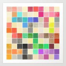 colorquilt 3 Art Print