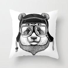 Panta Helmet and glasses Throw Pillow