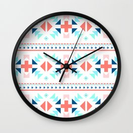 geometry navajo pattern Wall Clock