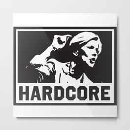 Hardcore Elizabeth Warren Metal Print