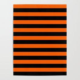 Black & Orange Stripes Poster