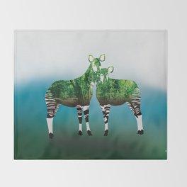 Mythical Beast: The Okapi Throw Blanket