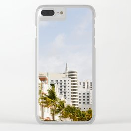 South Beach Vibes Clear iPhone Case