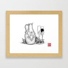 Wine & Grapes Framed Art Print