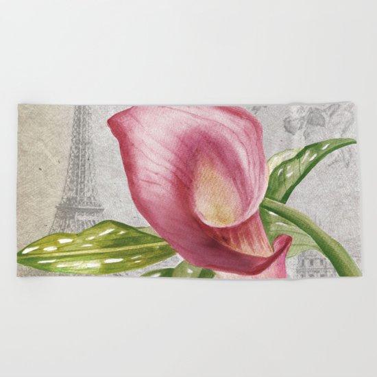 Macro Flower #4 Beach Towel