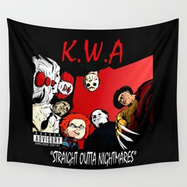 Straight Outta Nightmares Wall Tapestry