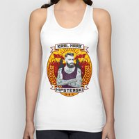 marx Tank Tops featuring Karl Marx Hipster by Ferguccio