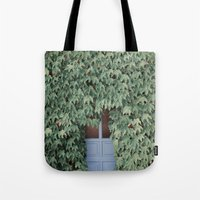 Tote Bags featuring Hidden doors by Jovana Rikalo