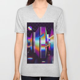 colorful labyrinth Unisex V-Neck