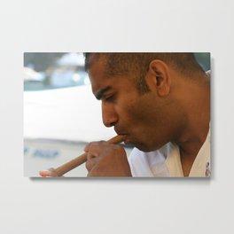 Portofino cigar smoking man bijou Metal Print