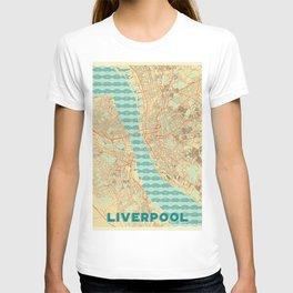 Liverpool Map Retro T-shirt