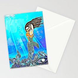 Mermaid with her Baby Stationery Cards