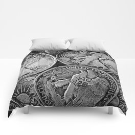 Walking Liberty Coins Comforters