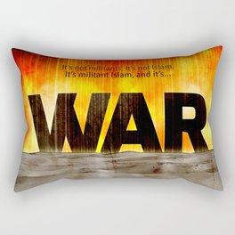 It's War Rectangular Pillow