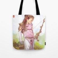 zelda Tote Bags featuring Zelda by Sheharzad