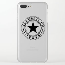 Texas Republic design by Republic of Texas graphics Ltd Clear iPhone Case