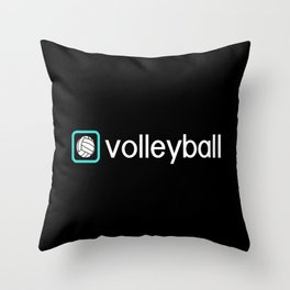 Volleyball (Blue) Throw Pillow