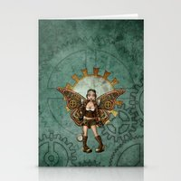 steam punk Stationery Cards featuring Steam Punk Pilot Faery by Hafapea