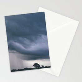 Evening thunder storm and clouds over rural scene. West Acre, Norfolk, UK. Stationery Cards