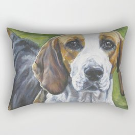 English Foxhound dog art portrait from an original painting by L.A.Shepard Rectangular Pillow