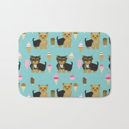Yorkie ice cream gifts yorkshire terrier dog lover pet friendly patterns minty Bath Mat