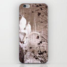 Swans friendship iPhone Skin