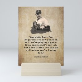 𝓜𝓛𝓑 - Society6 - New York - Hall Of Fame - Baseball - Derek Sanderson 𝕵𝖊𝖙𝖊𝖗 - 2 - A3212 Mini Art Print