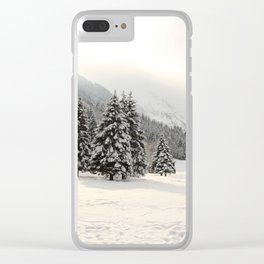 In The Wintertime Clear iPhone Case