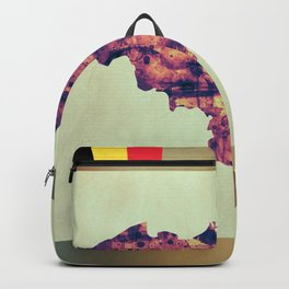 Belgium Map with Flag Backpack