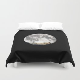Sleeping cat with the Moon Duvet Cover