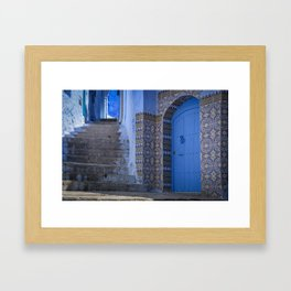 Chefchaouen Doorway and Staircase Framed Art Print