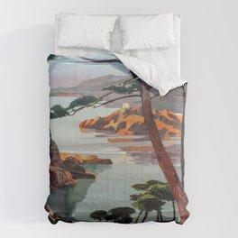 Vintage poster - La Corse, France Comforters