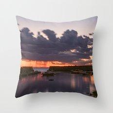 Rainy Lanescove Sunset Throw Pillow