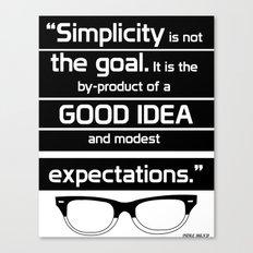 Typography poster Canvas Print