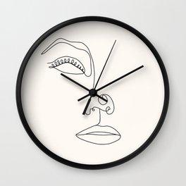 Minimalist femme ii, pearl Wall Clock