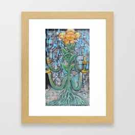 Flower Man of Life Framed Art Print