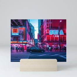 Evening sights of Akihabara Mini Art Print