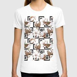 Cotton Flower Pattern 06 T-shirt