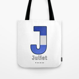 Juliet - Navy Code Tote Bag