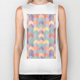 Colorful geometric blocks Biker Tank