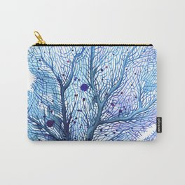 Fan Coral - Blue Carry-All Pouch