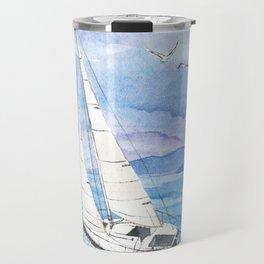 Italian summer. June. Barca a vela Travel Mug