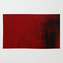 Abstract art in deep red Rug