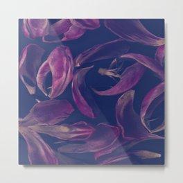 Pink petal pattern Metal Print