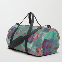 Abstract Mirrored Flower Pattern Duffle Bag