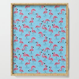 Flamingos Serving Tray