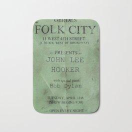 Rare 1961 Bob Dylan Gerdes Folk City Concert Poster Bath Mat