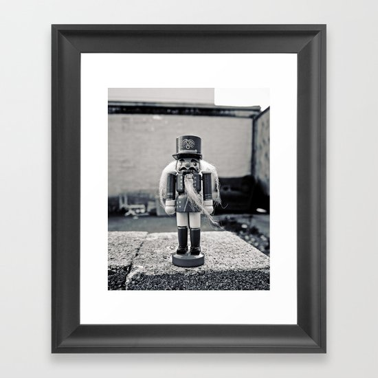 A gritty Christmas Framed Art Print