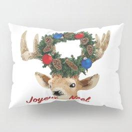 Joyeux noel - French Merry Christmas deer Pillow Sham