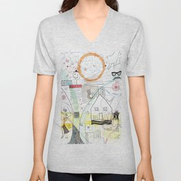 A Family Collaboration - 'No Place Like Home' Unisex V-Neck